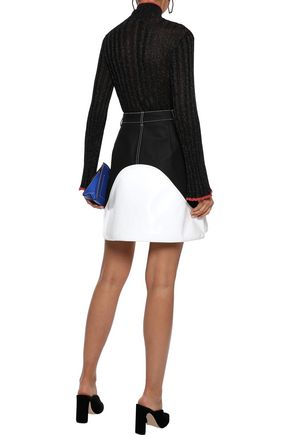 ELLERY Editore ribbed Lurex turtleneck sweater