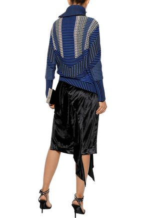 PETER PILOTTO Crochet-knit cotton-blend turtleneck sweater