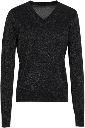 JOSEPH Metallic cotton-blend sweater