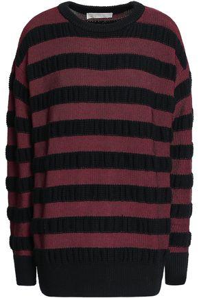 MICHAEL KORS Striped merino wool-blend sweater