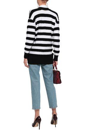 MICHAEL MICHAEL KORS STriped merino wool-blend cardigan
