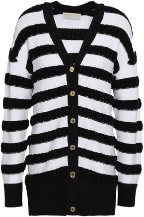 MICHAEL MICHAEL KORS STriped merino wool-blend cardigan