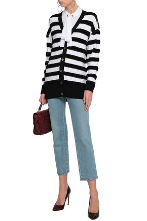 e7cd781cf61c MICHAEL MICHAEL KORS STriped merino wool-blend cardigan
