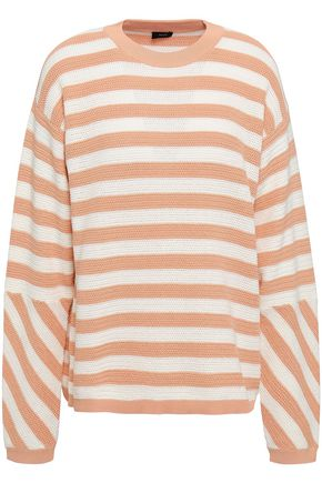 JOSEPH Striped open-knit cotton sweater