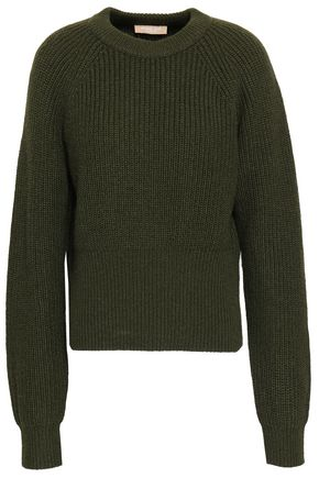 MICHAEL KORS COLLECTION Ribbed cashmere and mohair-blend sweater
