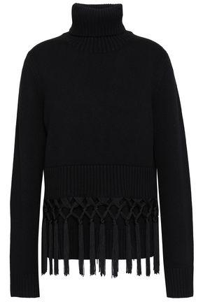 MICHAEL KORS COLLECTION Tassel-trimmed cashmere turtleneck sweater