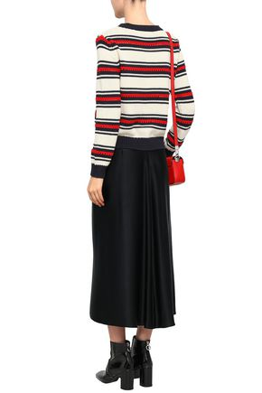 CHINTI AND PARKER Striped cotton cardigan