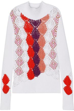PETER PILOTTO Crochet-knit cotton-blend sweater