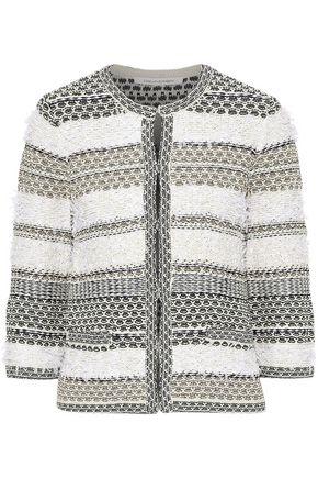 DIANE VON FURSTENBERG Kiera metallic cotton-blend bouclé-knit jacket