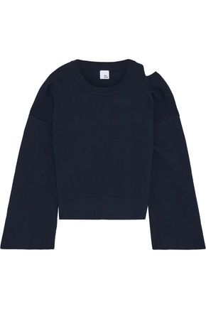 IRIS & INK Nora cutout cotton sweater