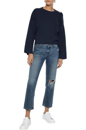 IRIS & INK Nora cutout cotton sweater