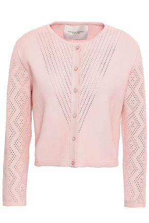 CAROLINA HERRERA Pointelle-knit cardigan