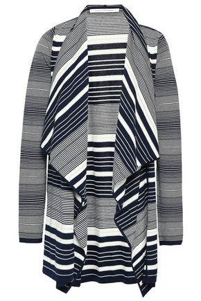 DIANE VON FURSTENBERG Draped striped stretch-knit cardigan