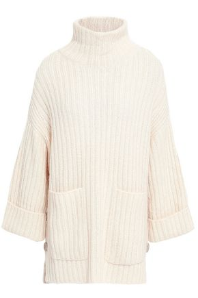 JOIE Ribbed cotton and wool-blend turtleneck sweater