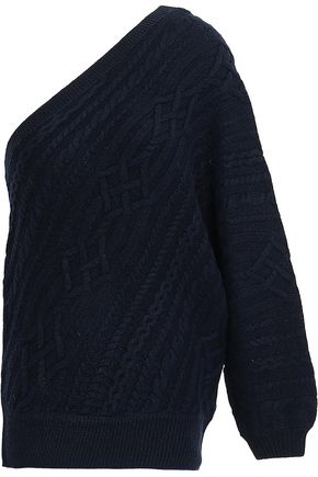 JOIE Orella one-shoulder cable-knit wool sweater