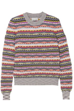 CARVEN Textured cotton-blend sweater