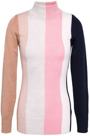 PAPER London Dolly color-block wool sweater