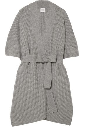 MADELEINE THOMPSON Duck waffle-knit wool and cashmere-blend cardigan