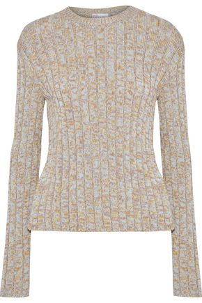 REDValentino Marled ribbed cotton sweater