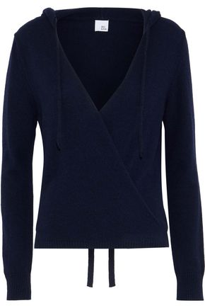 IRIS & INK Lila cashmere and wool-blend hooded wrap top