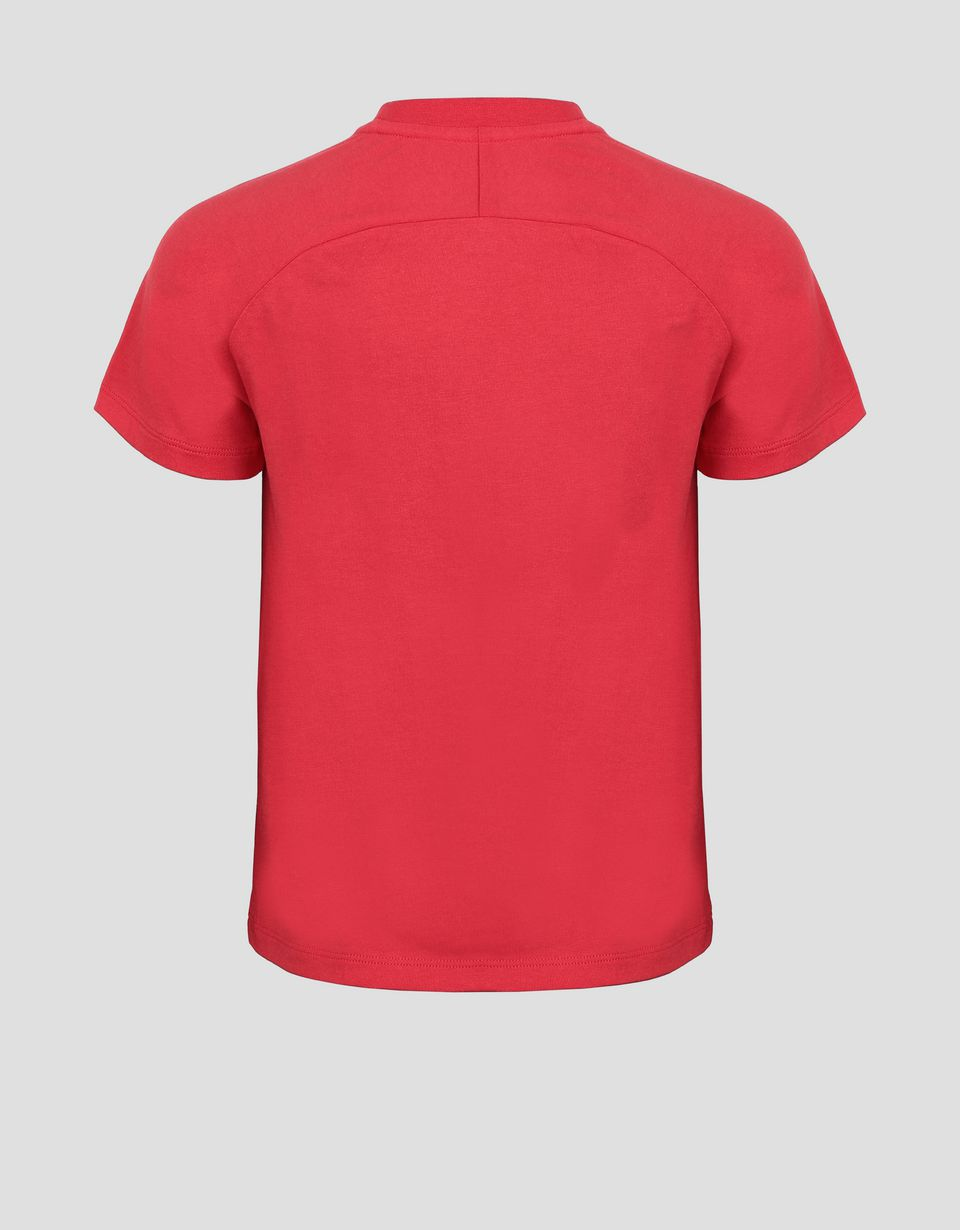 Scuderia Ferrari Online Store - Children's cotton T-shirt with all-over print - Short Sleeve T-Shirts
