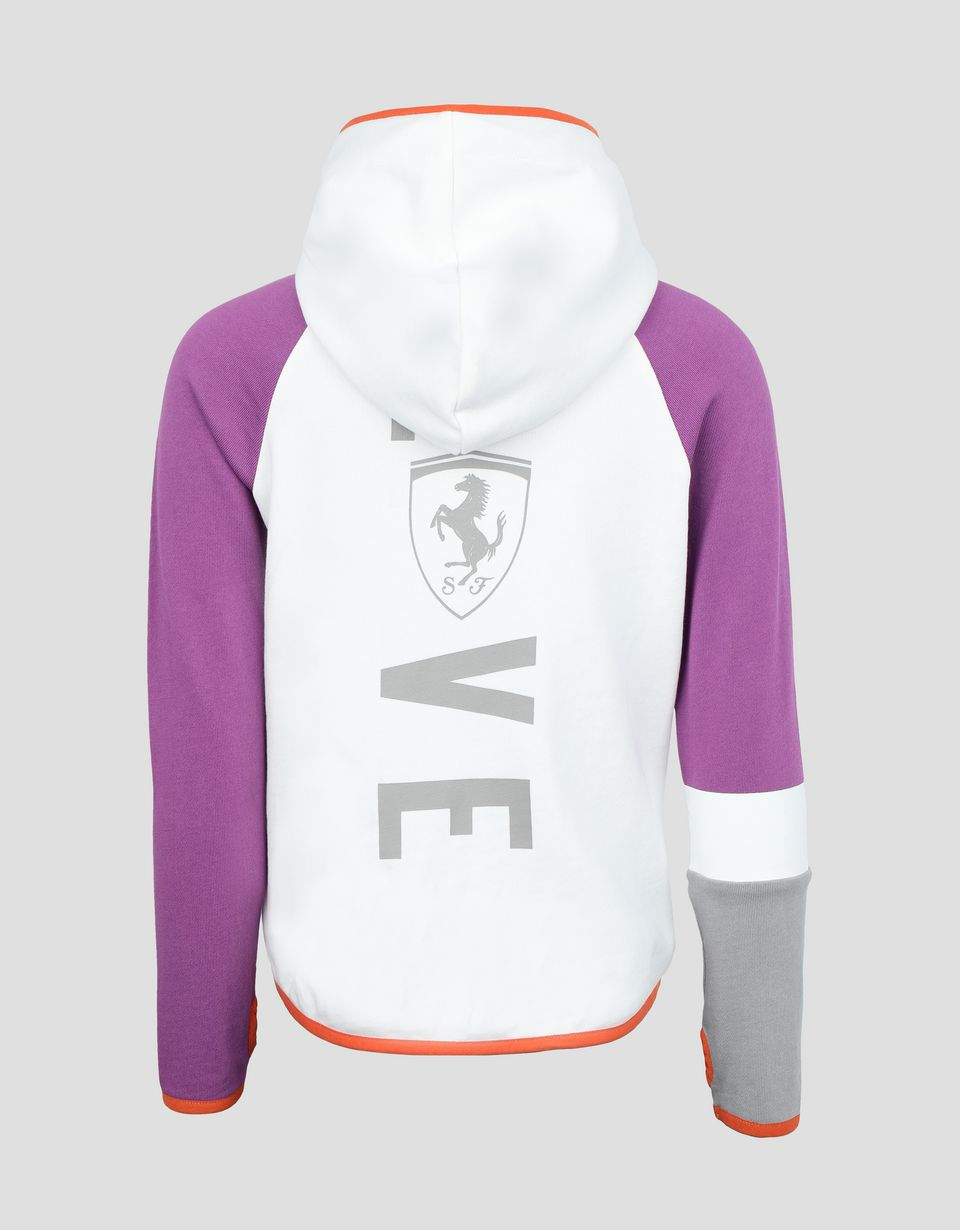Scuderia Ferrari Online Store - Child's sweatshirt in French Terry with LOVE print - Zip Hood Jumpers