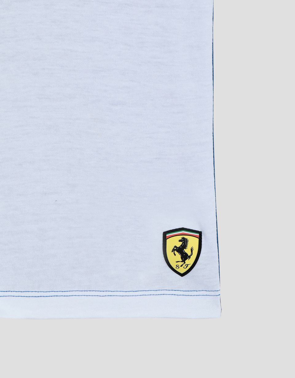 Scuderia Ferrari Online Store - Children's T-Shirt with Scuderia Ferrari Icon Tape - Short Sleeve T-Shirts
