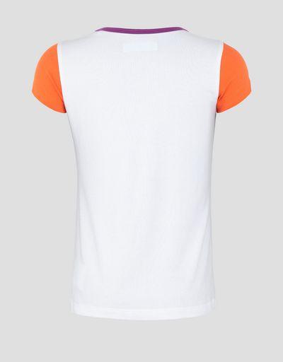 "f03b7620 Girls' T-shirt with laminated #""GIRL RACER"" print"