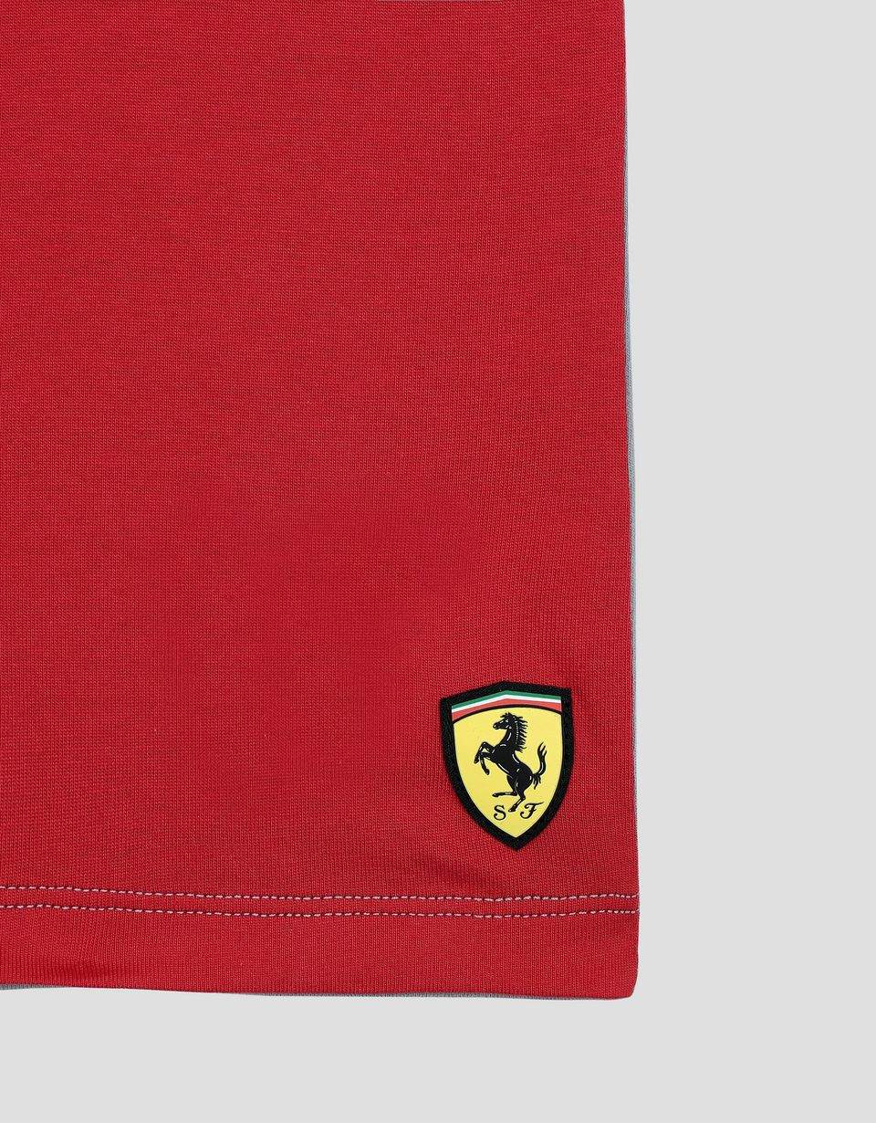 Scuderia Ferrari Online Store - Children's T-Shirt with Scuderia Ferrari Icon Tape -