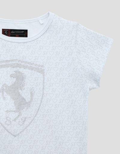 Scuderia Ferrari Online Store - Girls' T-shirt with all-over print -