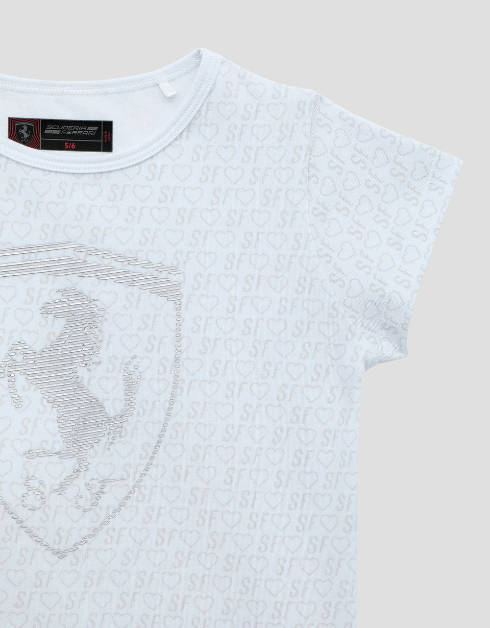 Scuderia Ferrari Online Store - Little girl's T-shirt with all over print - Short Sleeve T-Shirts