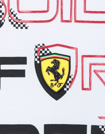 Scuderia Ferrari Online Store - Child's T-shirt with BUILT FOR SPEED print - Short Sleeve T-Shirts