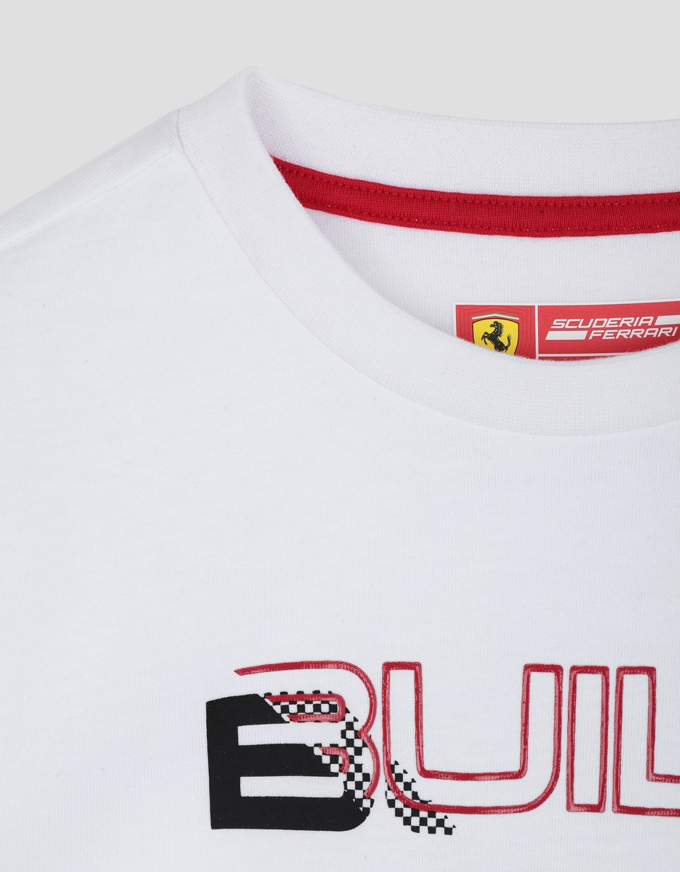"Scuderia Ferrari Online Store - Children's T-shirt with ""BUILT FOR SPEED"" print - Short Sleeve T-Shirts"