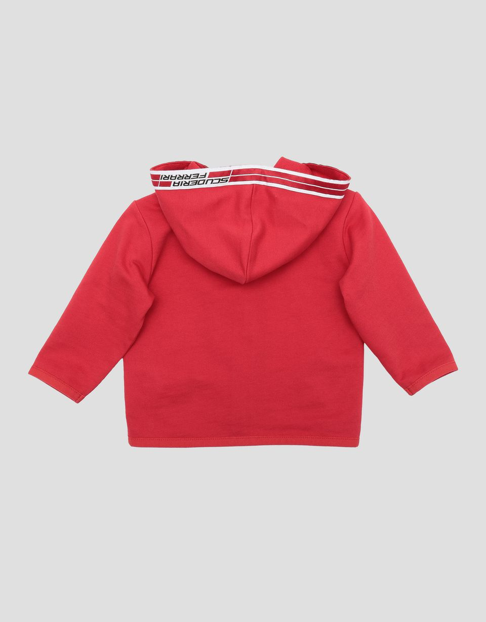 Scuderia Ferrari Online Store - Infant French terry top with Icon Tape - Zip Hood Sweaters