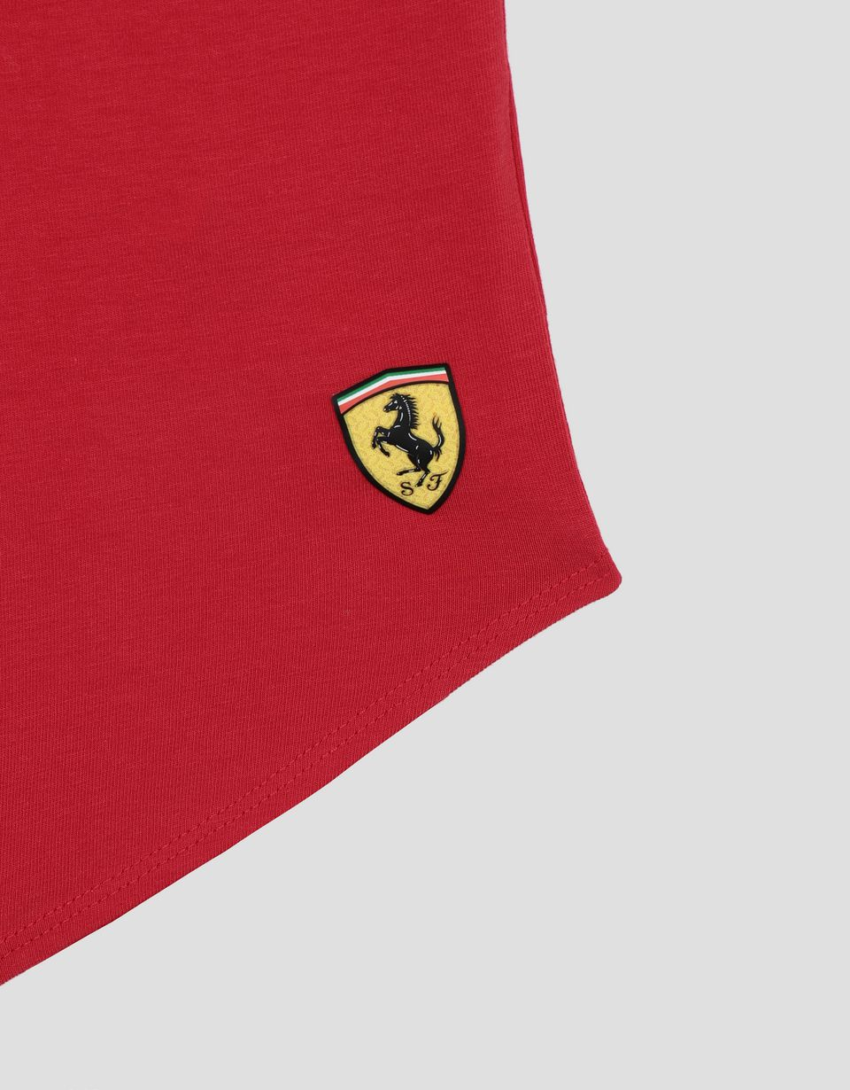 Scuderia Ferrari Online Store - Mädchen-T-Shirt mit Glitzerprint RED IS MY FAVORITE COLOUR - Kurzärmelige T-Shirts