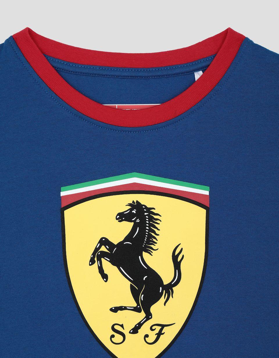 Scuderia Ferrari Online Store - Children's Scuderia Ferrari T-shirt with contrasting stitching - Short Sleeve T-Shirts