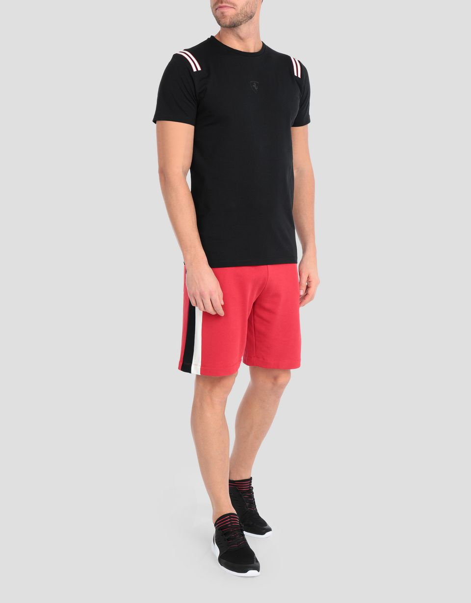 Scuderia Ferrari Online Store - Men's jersey T-shirt with knit inserts - Short Sleeve T-Shirts