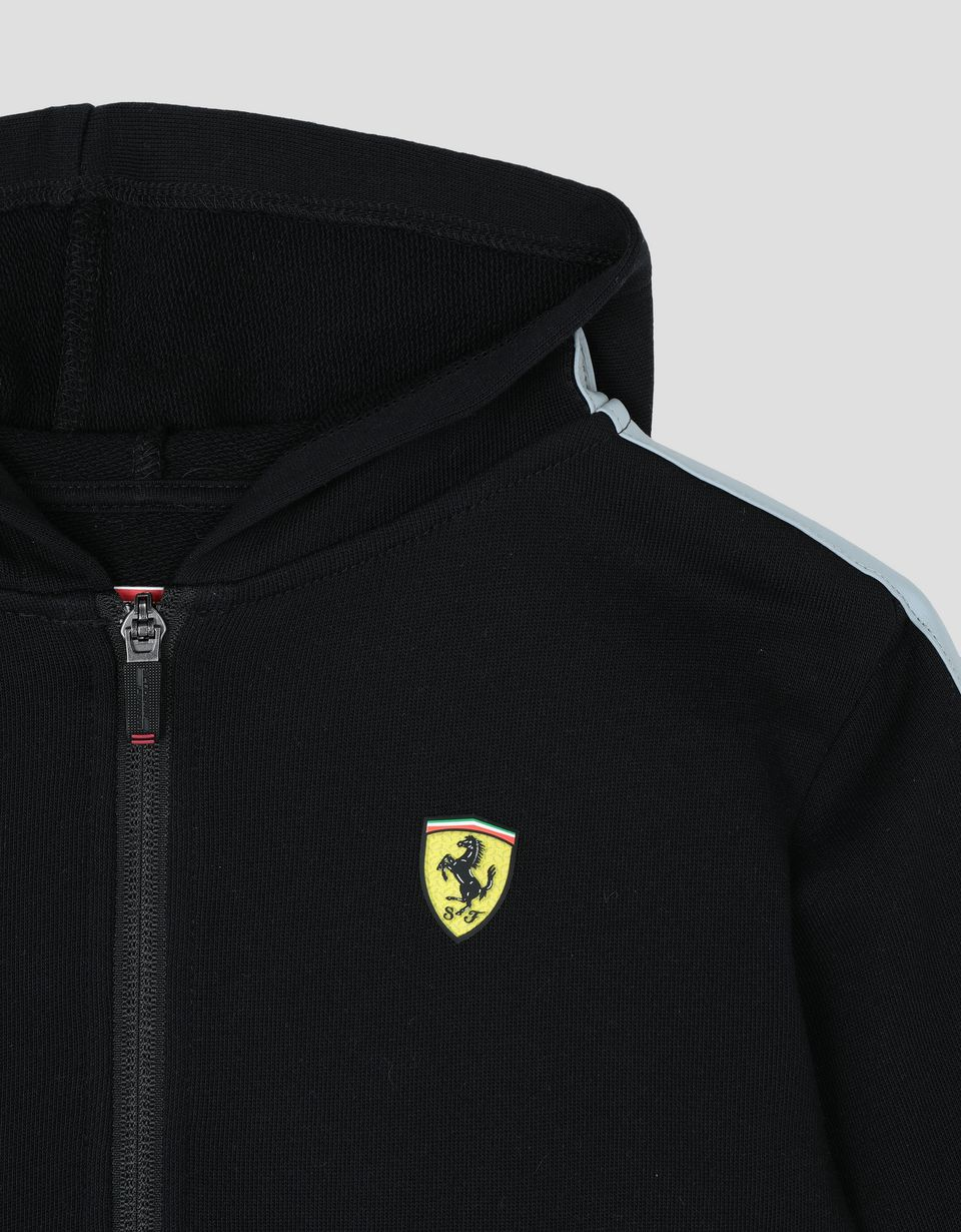 Scuderia Ferrari Online Store - Hooded unisex children's French terry top - Zip Hood Sweaters
