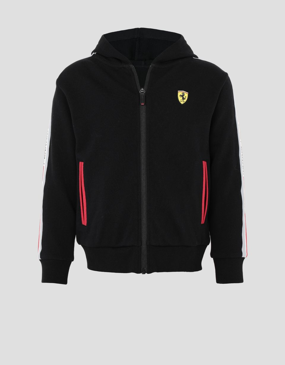 Scuderia Ferrari Online Store - Child's hooded sweater in French Terry - Zip Hood Jumpers