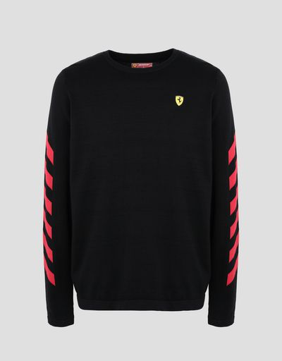 Scuderia Ferrari Online Store - Men's printed cotton tricot sweater -
