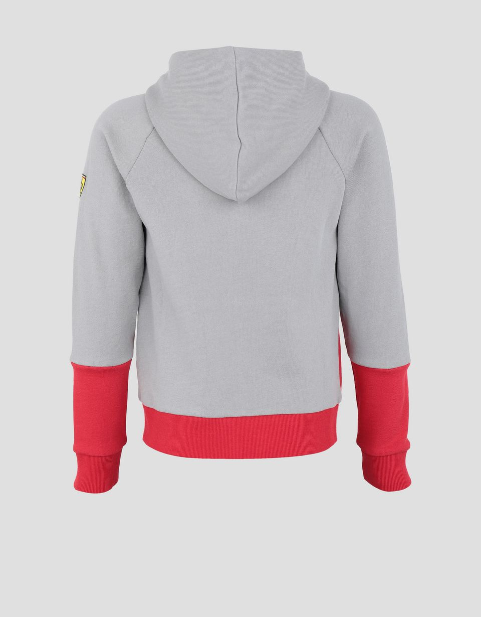 Scuderia Ferrari Online Store - Child's sweatshirt in French Terry with print and hood - Zip Hood Jumpers