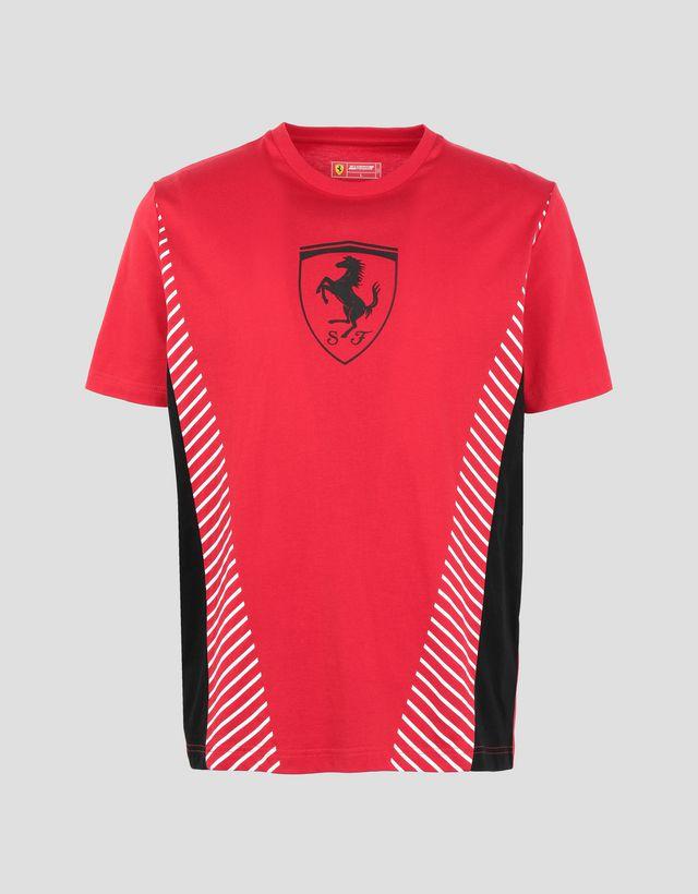 ... Scuderia Ferrari Online Store - Camiseta con insertos en contraste para  hombre - Camisetas de manga ... aebcb82e8cc