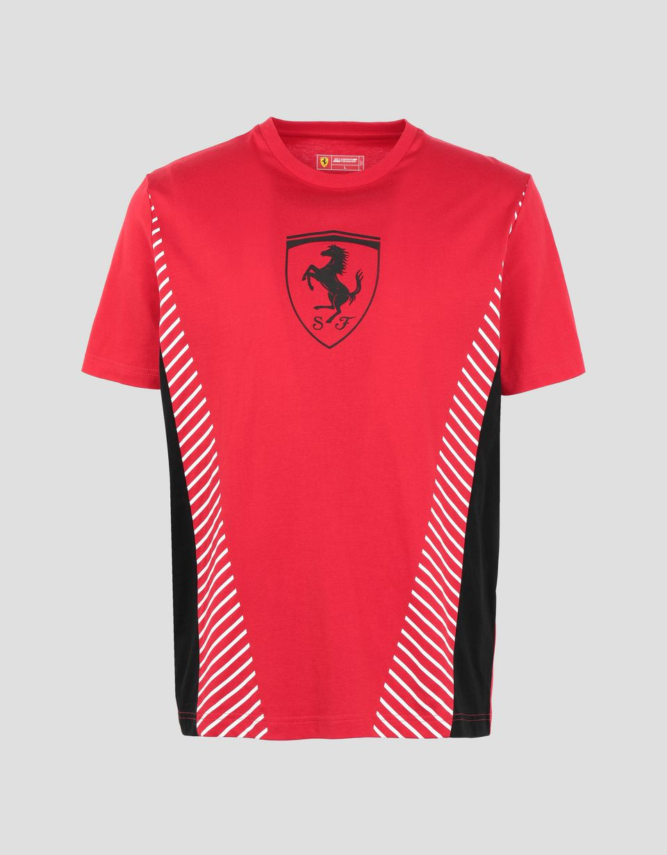Scuderia Ferrari Online Store - Men's T-shirt with contrasting inserts -