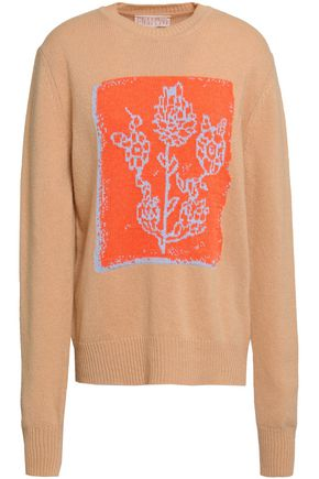 PETER PILOTTO Intarsia-knit wool, cashmere and cotton-blend sweater