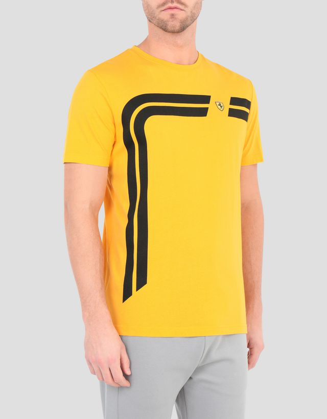 5b04413d2861e3 Scuderia Ferrari Online Store - Men's printed cotton T-shirt - Short Sleeve  T- ...