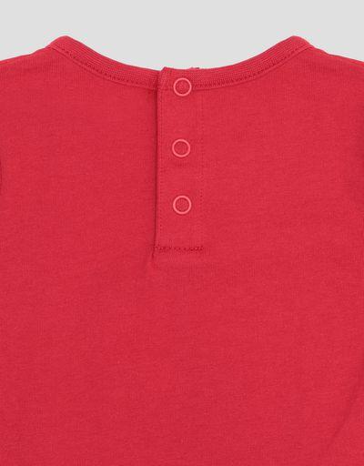 Scuderia Ferrari Online Store - T-shirt avec Scudetto Ferrari pour nouveau-né - T-shirts à manches courtes