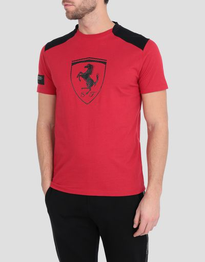 b90096fb66e378 Men s cotton T-shirt with contrasting inserts ...