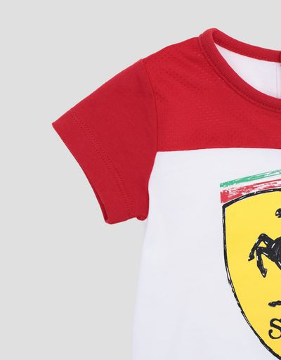 Scuderia Ferrari Online Store - Infant's T-shirt for boys with Ferrari Shield - Short Sleeve T-Shirts