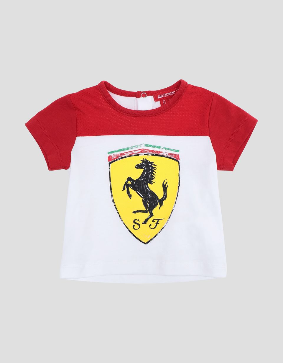 Scuderia Ferrari Online Store - Infant T-shirt with Ferrari Shield - Short Sleeve T-Shirts