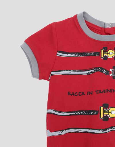 Scuderia Ferrari Online Store - Infant's T-shirt for boys with racing car print - Short Sleeve T-Shirts